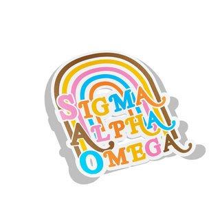 Sigma Alpha Omega Joy Decal Sticker
