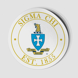 Sigma Chi Circle Crest - Shield Decal
