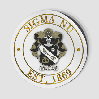 Sigma Nu Circle Crest - Shield Decal