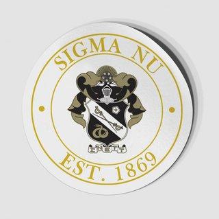 Sigma Nu Circle Crest - Shield Decal