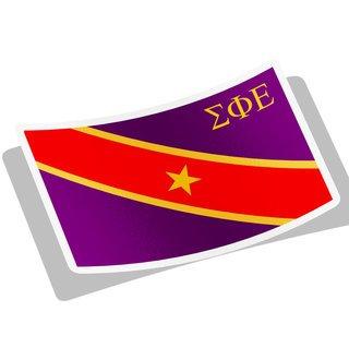 Sigma Phi Epsilon Flag Decal Sticker