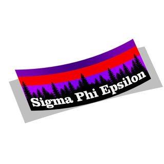Sigma Phi Epsilon Mountain Decal Sticker