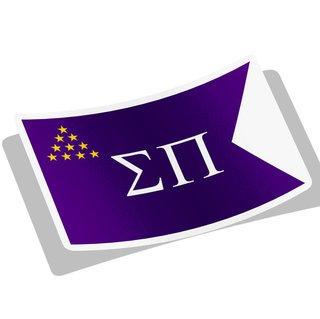 Sigma Pi Flag Decal Sticker