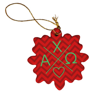 Sorority Snowflake Balanced Porcelain Ornament