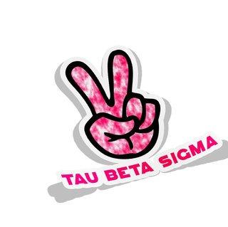 Tau Beta Sigma Peace Hands Decal Sticker