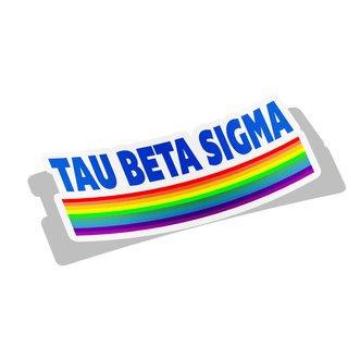 Tau Beta Sigma Prism Decal Sticker