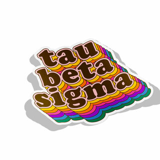 Tau Beta Sigma Retro Maya Decal Sticker