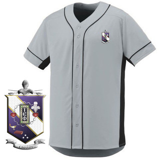 DISCOUNT-Tau Epsilon Phi Fraternity Crest - Shield Slugger Baseball Jersey