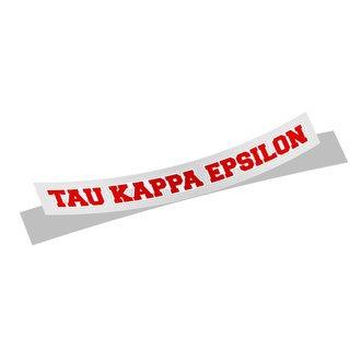 Tau Kappa Epsilon Long Window Sticker