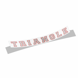 Triangle Fraternity Long Window Decals Stickers