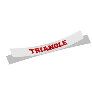 Triangle Long Window Sticker