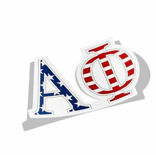 USA Flag Greek Letter Decal