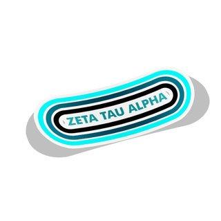 Zeta Tau Alpha Capsule Decal Sticker