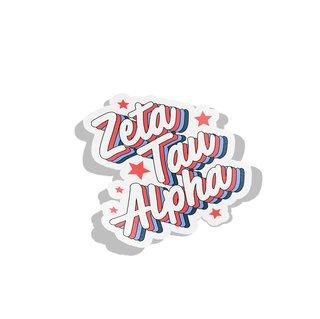 Zeta Tau Alpha Flashback Decal Sticker