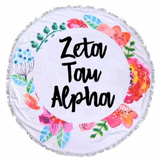 Zeta Tau Alpha Fringe Towel Blanket