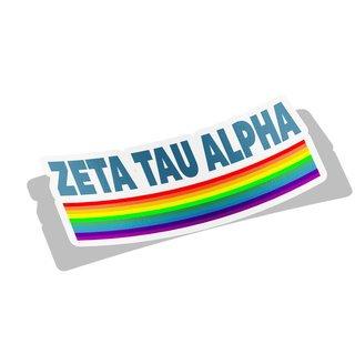 Zeta Tau Alpha Prism Decal Sticker