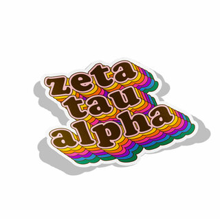 Zeta Tau Alpha Retro Maya Decal Sticker