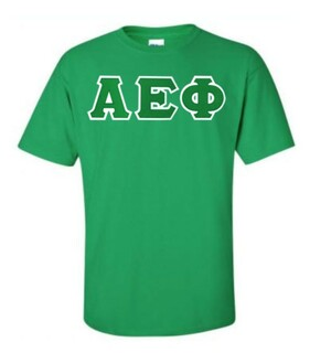 DISCOUNT Alpha Epsilon Phi Lettered Tee