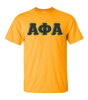 DISCOUNT Alpha Phi Alpha Lettered T-shirt
