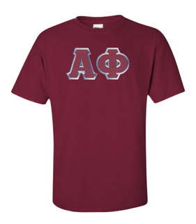 $15 Alpha Phi Lettered Tee
