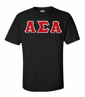 DISCOUNT Alpha Sigma Alpha Lettered Tee