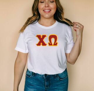 DISCOUNT Chi Omega Lettered Tee