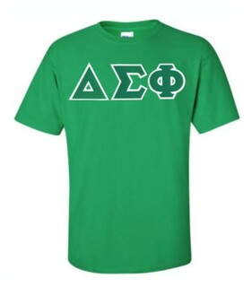 DISCOUNT Delta Sigma Phi Lettered T-shirt