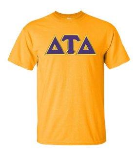DISCOUNT Delta Tau Delta Lettered T-shirt