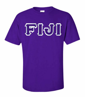 DISCOUNT FIJI Fraternity Lettered T-shirt