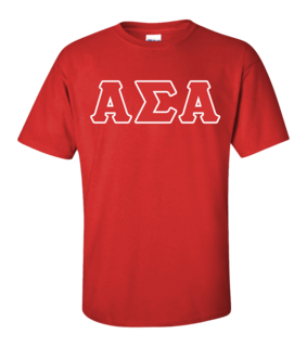 $15 Greek Lettered T-shirt - On Sale $13.95