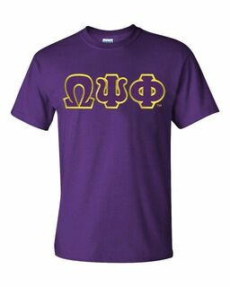DISCOUNT Omega Psi Phi Lettered T-shirt