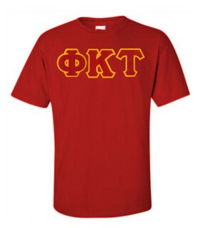 DISCOUNT Phi Kappa Tau Lettered T-shirt