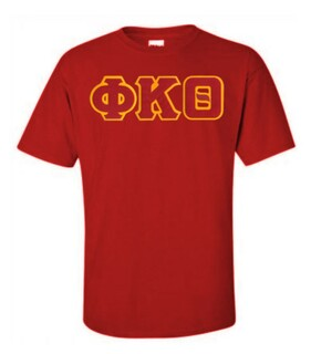 DISCOUNT Phi Kappa Theta Lettered T-shirt