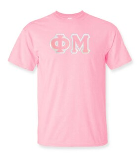 DISCOUNT Phi Mu Lettered Tee