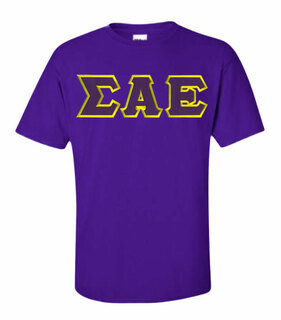 $15 Sigma Alpha Epsilon Lettered T-shirt