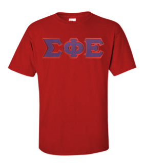 DISCOUNT Sigma Phi Epsilon Lettered T-shirt