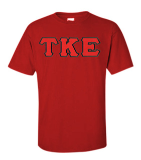 DISCOUNT Tau Kappa Epsilon Lettered Tees