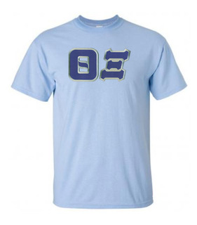 DISCOUNT Theta Xi Lettered Tee