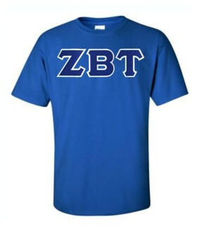 DISCOUNT Zeta Beta Tau Lettered T-shirt