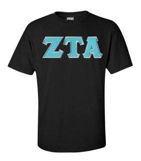 $15 Zeta Tau Alpha Lettered Tee
