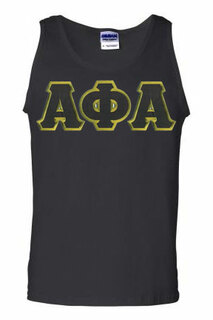 DISCOUNT- Alpha Phi Alpha Lettered Tank Top