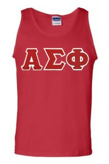 DISCOUNT- Alpha Sigma Phi Lettered Tank Top