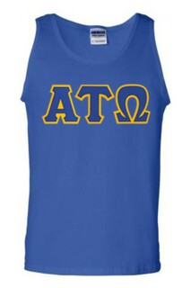 DISCOUNT- Alpha Tau Omega Lettered Tank Top