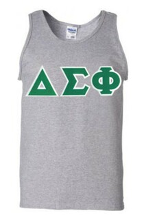DISCOUNT- Delta Sigma Phi Lettered Tank Top