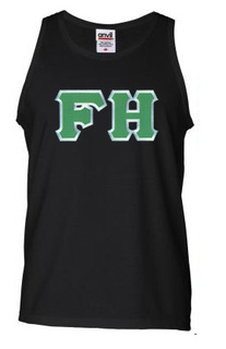 DISCOUNT- FarmHouse Fraternity Lettered Tank Top