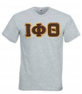 DISCOUNT- Iota Phi Theta Lettered V-Neck T-Shirt