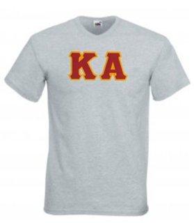 DISCOUNT- Kappa Alpha Lettered V-Neck T-Shirt