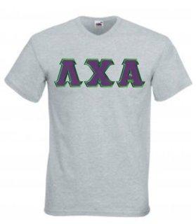 DISCOUNT- Lambda Chi Alpha Lettered V-Neck T-Shirt