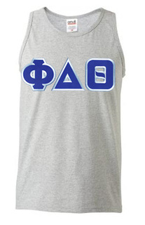 DISCOUNT- Phi Delta Theta Lettered Tank Top