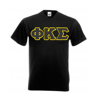 DISCOUNT- Phi Kappa Sigma Lettered V-Neck T-Shirt